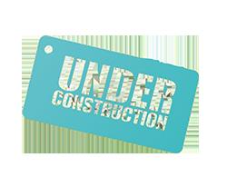 Website is under construction Blue